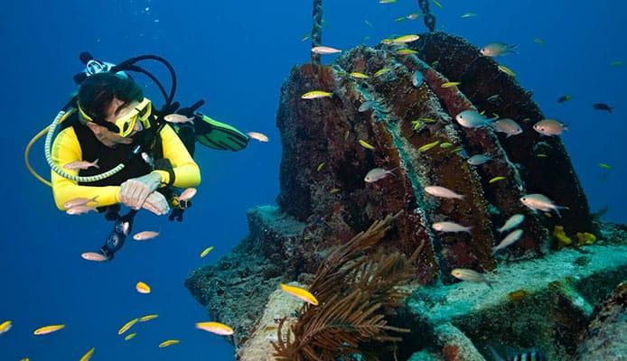 Female_diver_exploring_a_wreck