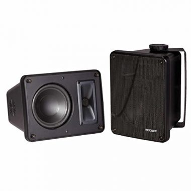 Kicker KB6000 6.5″ Full Range Indoor/Outdoor/Marine Speakers