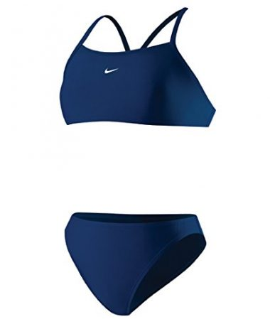 Nike Womens Core Solids Sport 2-Piece Midnight Navy 8 Surf Bikini