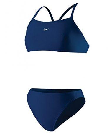 Nike Womens Core Solids Sport 2-Piece Midnight Navy 8
