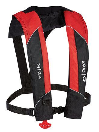 Absolute Outdoor Onyx M-24 Manual Inflatable Life Jacket