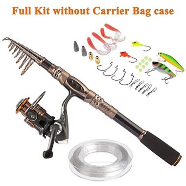 PLUSINNO Fishing Rod and Reel Combo, Sea Saltwater Freshwater Kit