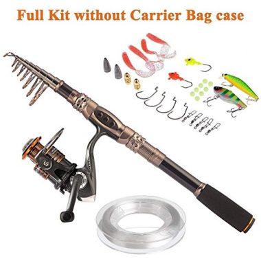 PLUSINNO Fishing Rod and Reel Combo, Sea Saltwater Freshwater Kit