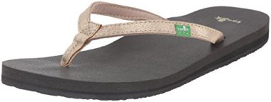 Sanuk Women's Yoga Joy Metallic Flip-Flop
