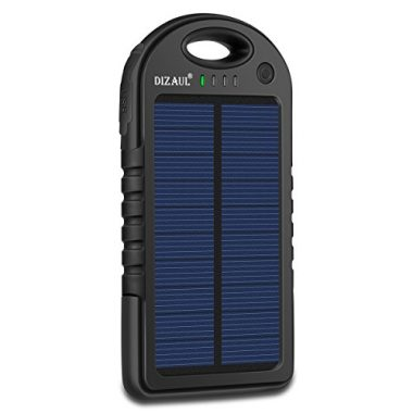 Dizaul Portable Power Bank Solar Charger