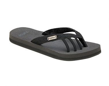 toesox Women's Serena Five Toe Flip Flop