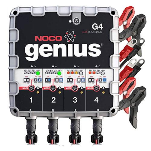 NOCO Genius 4-Bank UltraSafe Smart Marine Battery Charger