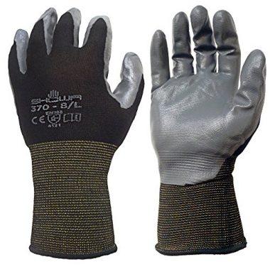 Atlas 370BLK Nitrile Tough Gloves By Showa
