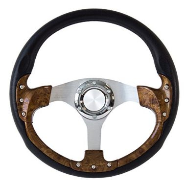 Forever Sharp 14″ Pursuit Classic I Burlwood Style Steering Wheel