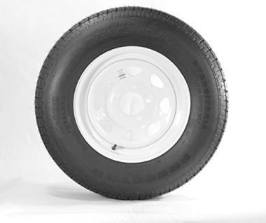 Wheels Express Inc 15″ White Spoke Trailer Wheel