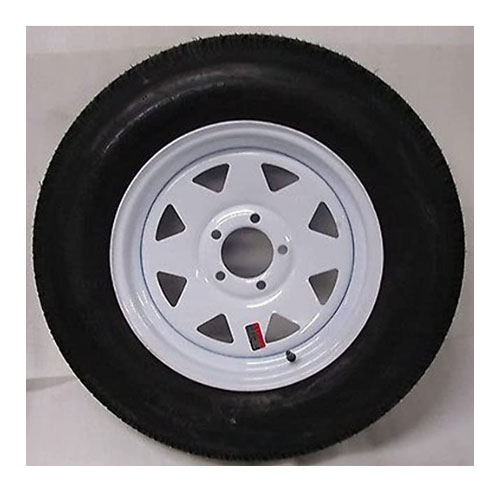 Wheels Express White Spoke Boat Trailer Tire