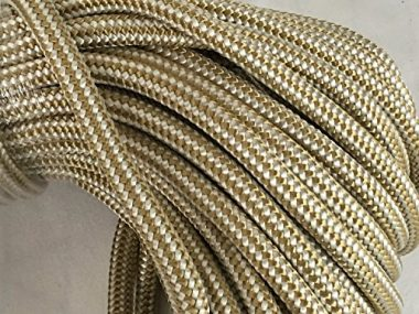 Blue Ox Rope 3/8″ Gold Braid Double Braided Nylon Anchor/Dock Line Rope