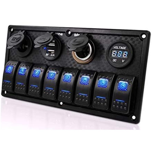 Genuine Marine Gang Rocker Boat Switch Panel