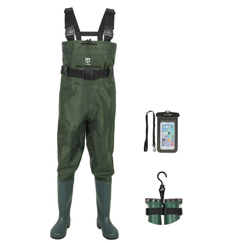 TIDEWE Bootfoot Chest Fly Fishing Wader