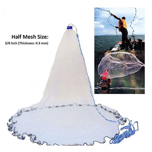 Yeahmart American Saltwater Fishing Cast Net