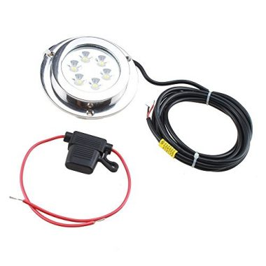 AGPTEK Stainless Steel LED Marine Boat Underwater Light