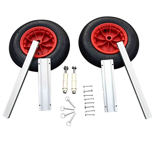 Aquos Aluminum Transom Boat Launching Wheels