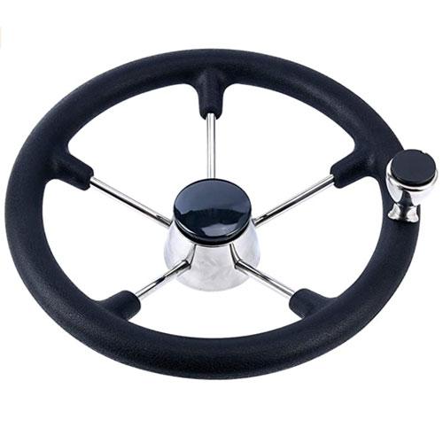 Amarine Made Black Foam Grip Destroyer Steering Wheel