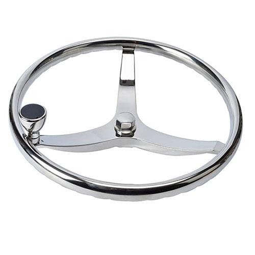 Amarine Made 3 Spoke Stainless Steel Boat Steering Wheel