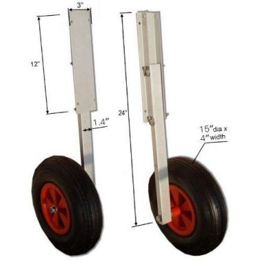 Aluminum Transom Launching Wheels for Inflatable Boat by Aquos