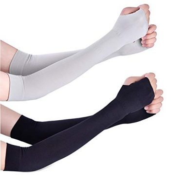 Arm Sleeves – Unisex Sports Cooling Arm Gloves (Pack of 2) by TOPtoper