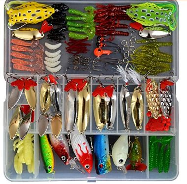 129 Piece Fishing Lure Set By Bluenet