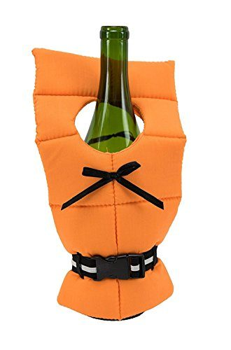 Boston Warehouse Bottle Cooler With Life Preserver Design