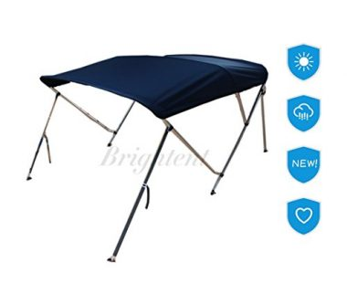 Brightent 3-4 Bow Boat Canopy Cover Bimini Top