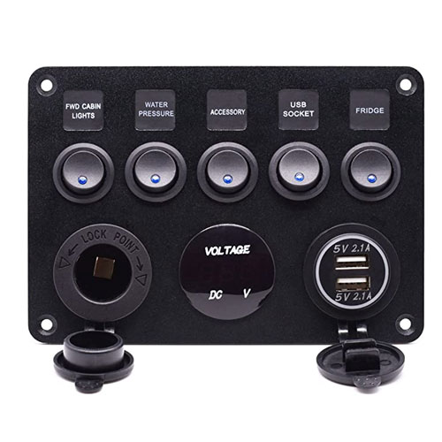 Cllena Toggle Multi-Function Boat Switch Panel