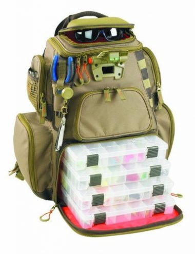 Custom Leathercraft Fishing Backpack with Four Trays