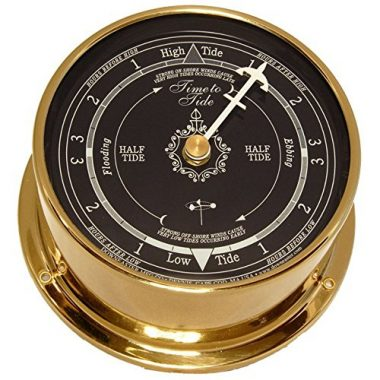 Blue Dial Standard Tide Clock By Downeaster