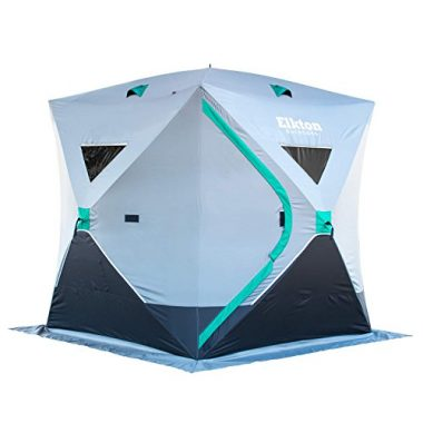 Elkton Outdoors Portable 3-4 Person Tent Ice Fishing Shelter
