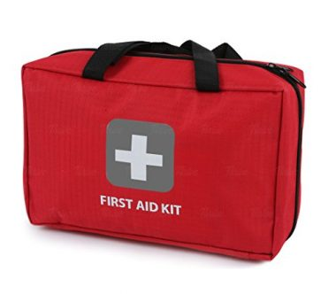 First Aid Kit – 291 Pieces – Bag. Packed with hospital grade medical supplies for emergency and survival situations