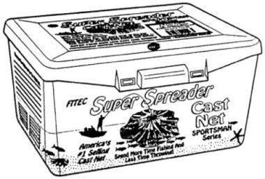 Super Spreader Nylon Fishing Cast Net By Fitec