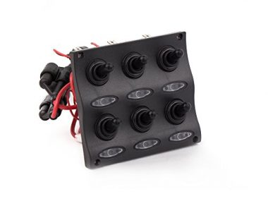 Five Oceans Marine Waterproof 6 Gang Toggle Switch Panel