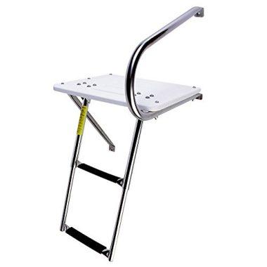Garelick/Eez-In Combo Outboard Transom Platform/Telescopic Ladder