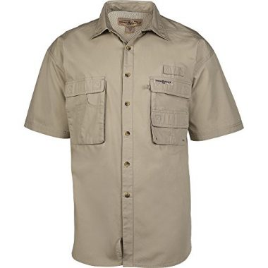 Hook & Tackle Mens Gulf Stream Short-Sleeve Fishing Shirt