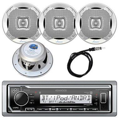 Kenwood InDash Marine Boat Bluetooth Digital USB AUX AM/FM Radio Stereo Player