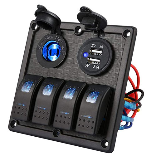 Kohree Waterproof Boat Switch Panel