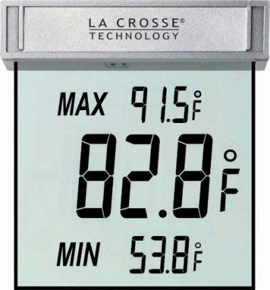 La Crosse Technology WS – 1025 Digital Window Thermometer