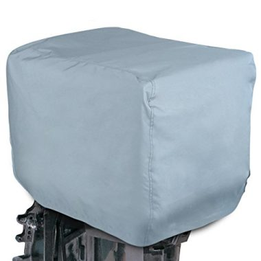 Leader Accessories Grey ShoreGuard Polyester Waterproof Outboard Motor Hood Cover