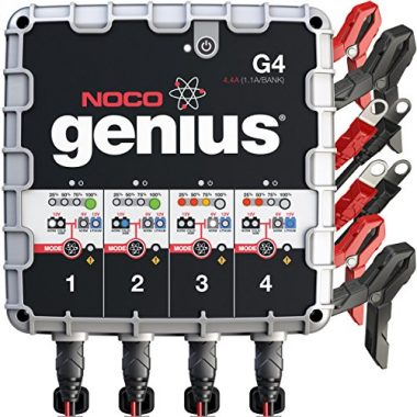 NOCO Genius 4-Bank UltraSafe Smart Battery Charger