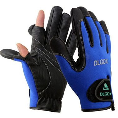 POSA Palmyth 2 Cut Fingers Fishing Gloves Skidproof for Ice Fishing