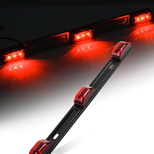Partsam Red BAR Submersible Trailer Lights