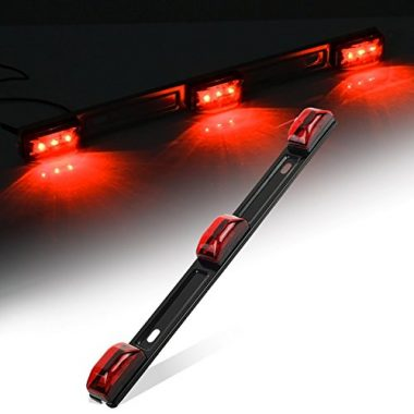 Partsam Red Clearance ID BAR Marker Trailer Lights