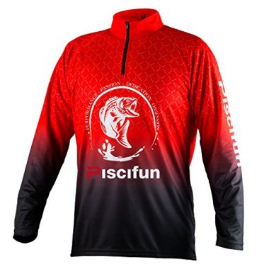 Piscifun Performance UPF Long Sleeve Fishing T-Shirt-Sun Protection Fishing