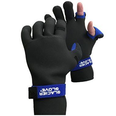 Glacier Glove Pro Angler Neoprene Ice Fishing Gloves