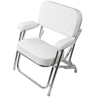 Rage Powersports Portable Folding Cushioned Boat Deck Beach Chair