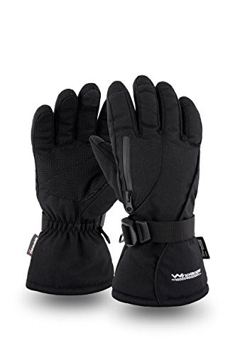 WindRider  Rugged Waterproof Winter Gloves – Touch Screen – Great for Ice Fishing – For Men or Women