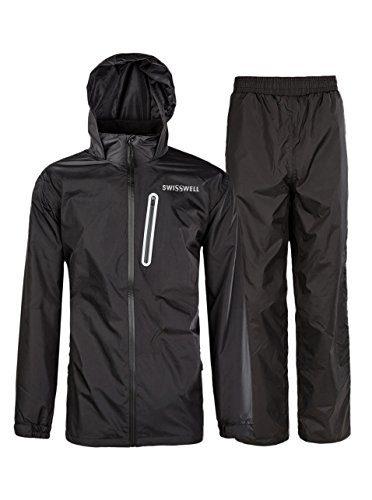 SWISSWELL Rain Suit for Men Waterproof Hooded Rainwear